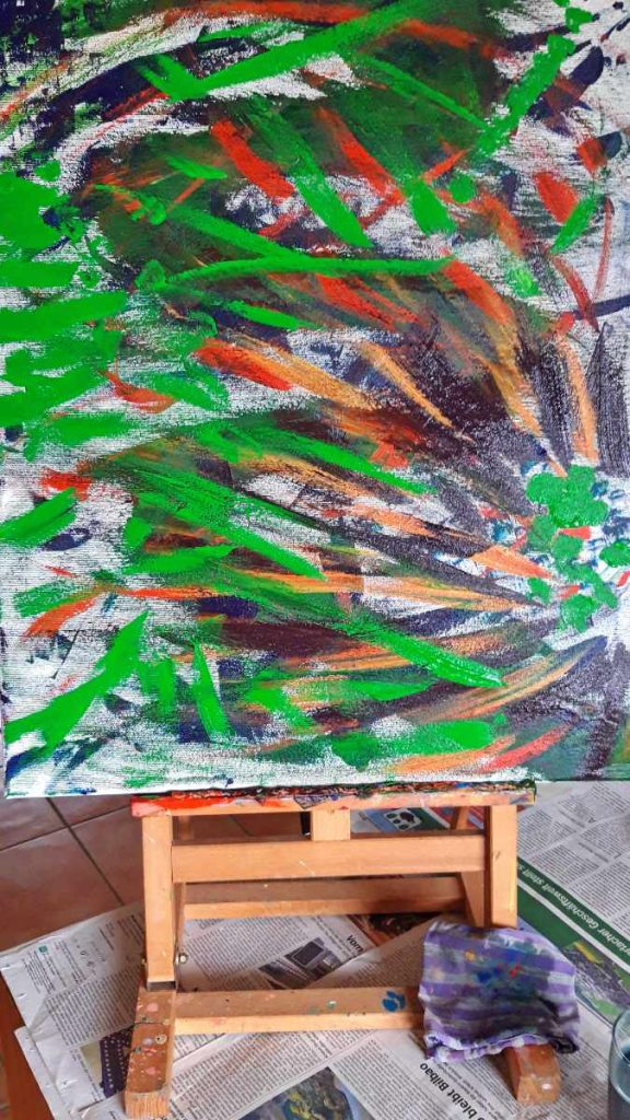 Aufstellung mit Farben 3